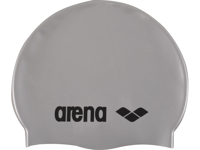 arena Classic Silicone Swimming Cap Barn silver-black